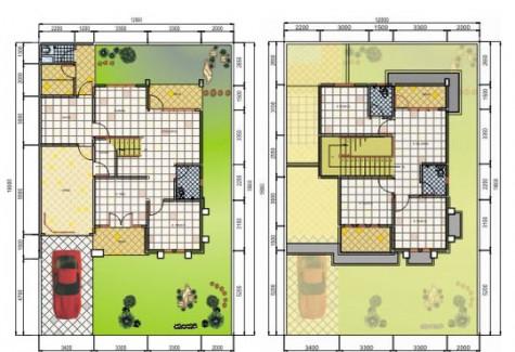 Denah Rumah 5x10 Satu Lantai